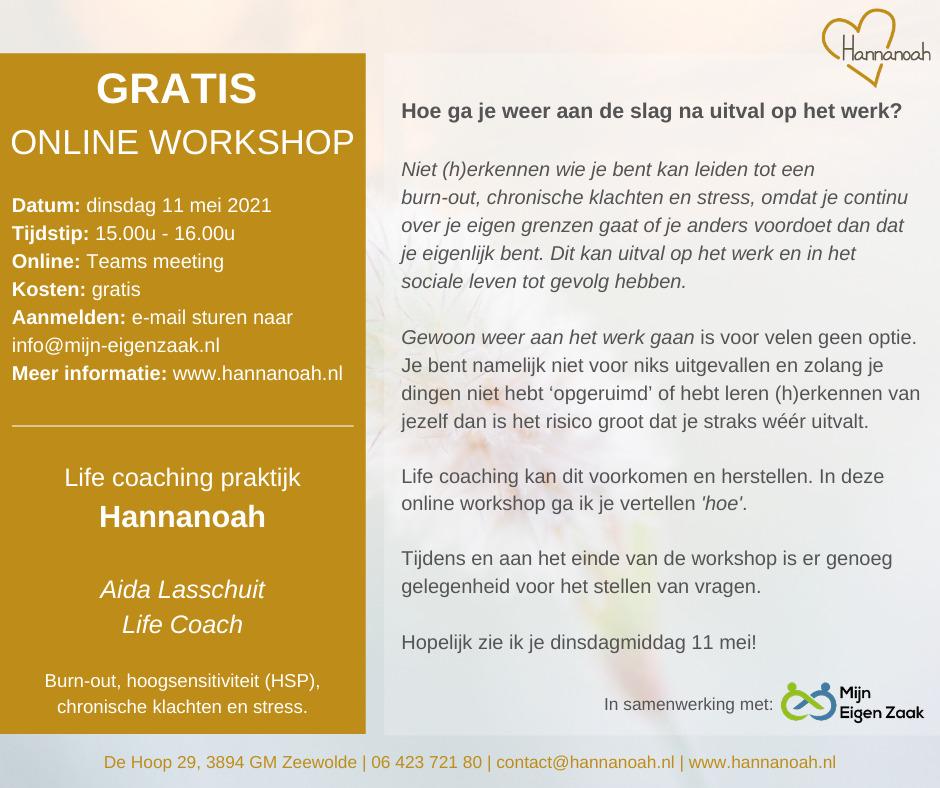 Uitnodiging voor gratis workshop